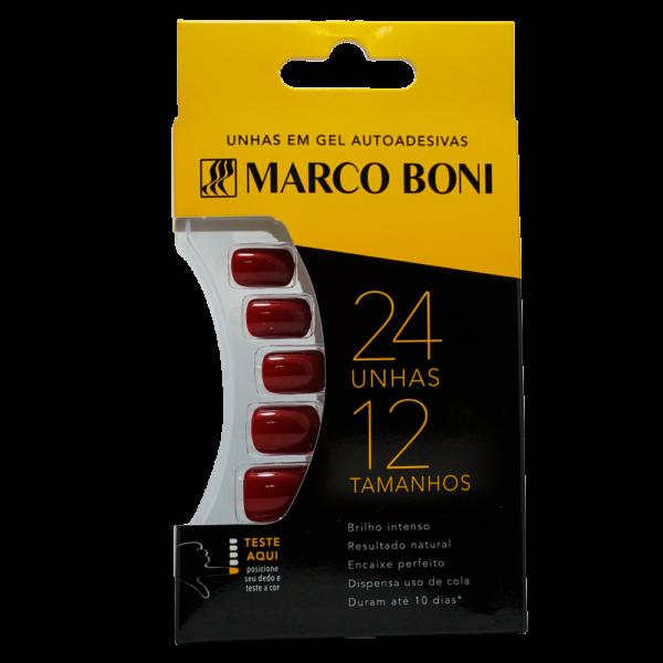 Unhas Postiças com Aba Adesiva Vinho - Marco Boni
