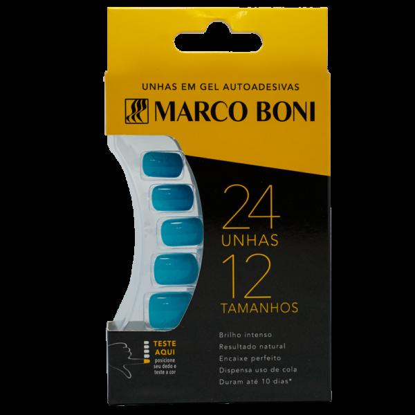 Unhas Postiças com Aba Adesiva Azul - Marco Boni