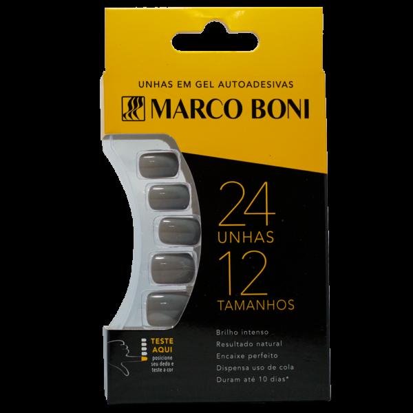 Unhas Postiças com Aba Adesiva Cinza - Marco Boni