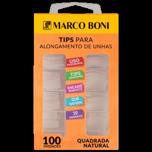 Tips Quadradas para Alongamento 100 Un. - Marco Boni
