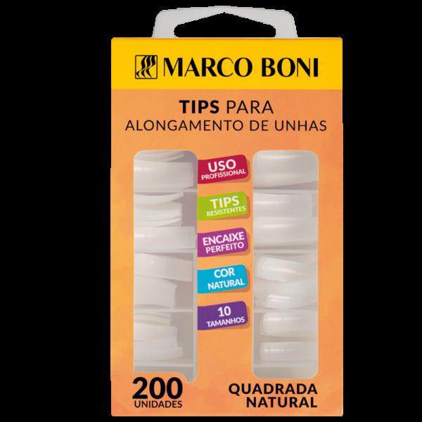 Tips Quadradas para Alongamento 200 Un. - Marco Boni