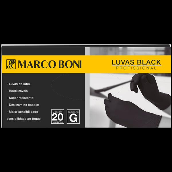 LUVA EM LÁTEX BLACK 20 UN. G