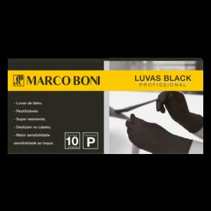 LUVA EM LÁTEX BLACK 10 UN. P