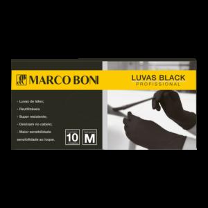 LUVA EM LÁTEX BLACK 10 UN. M